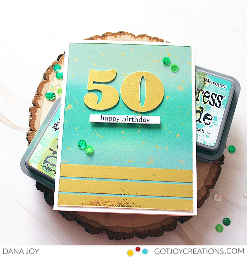 Deco Foil Birthday Card