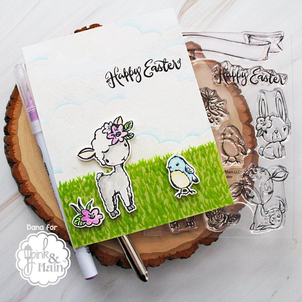 Pink and Main Sketched Easter stamp set and coordinating dies