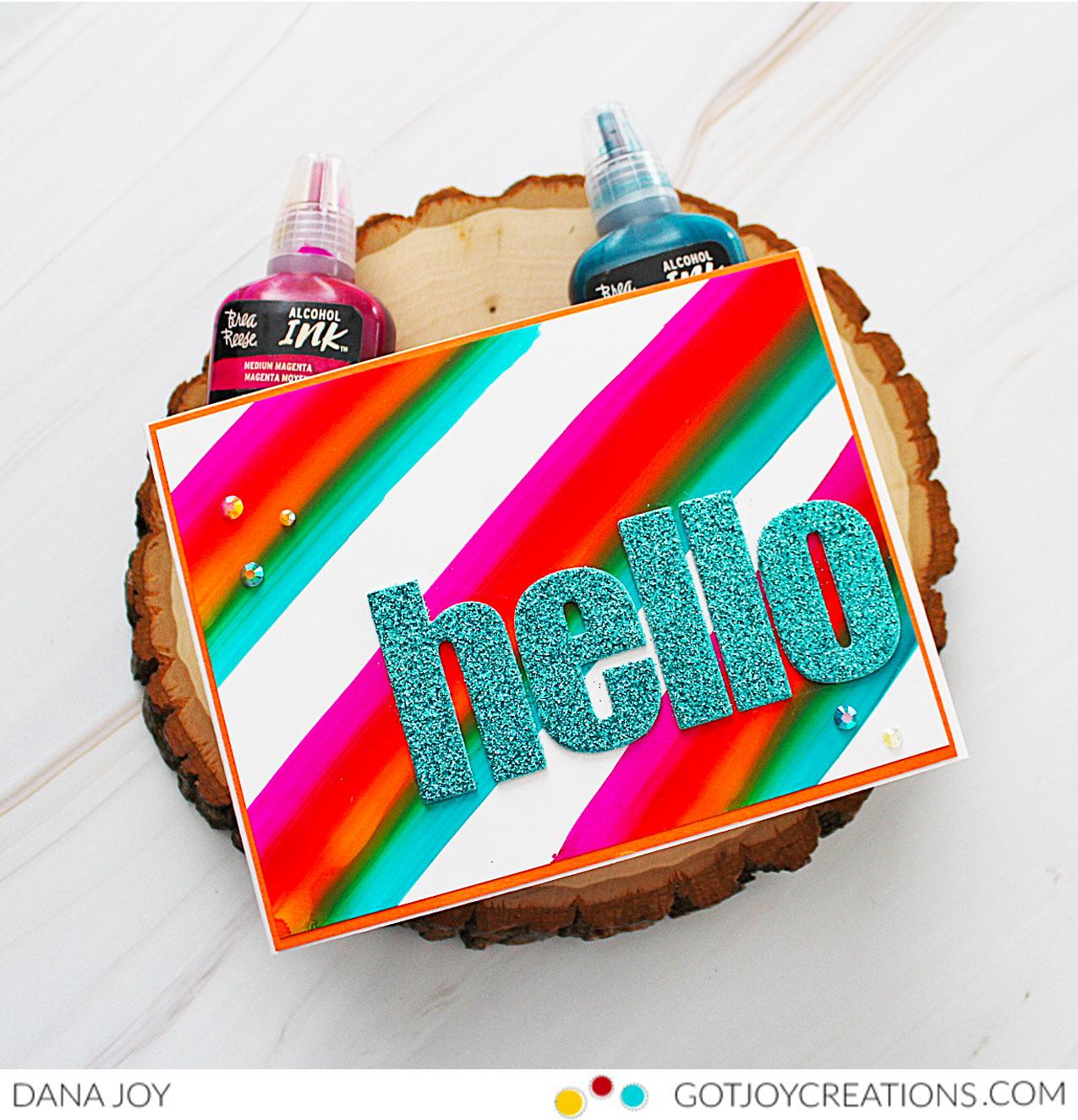 Brea Reese Trio Stripe Background Card