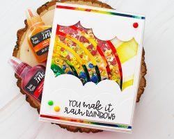 Brea Reese Rainbow Shaker Card