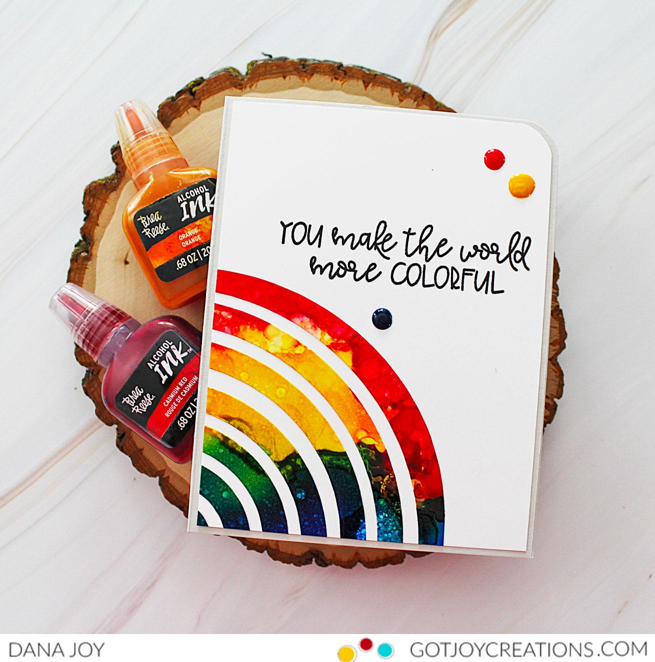 Reverse Rainbow Card