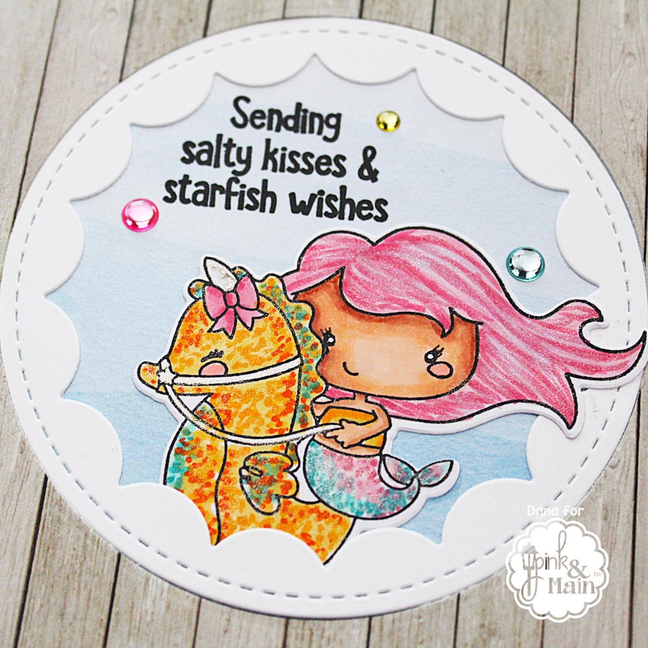Pink and Main Starfish Wishes