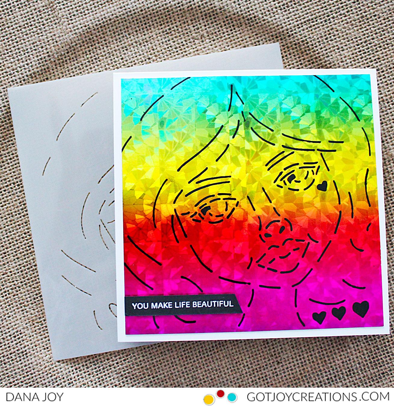 Rita Barakat Rainbow Negative Sweet Sister Hearts