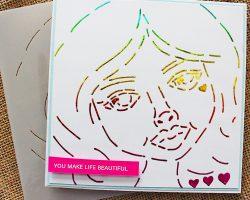 Rita Baralat Rainbow Sweet Sisters Hearts Stencil