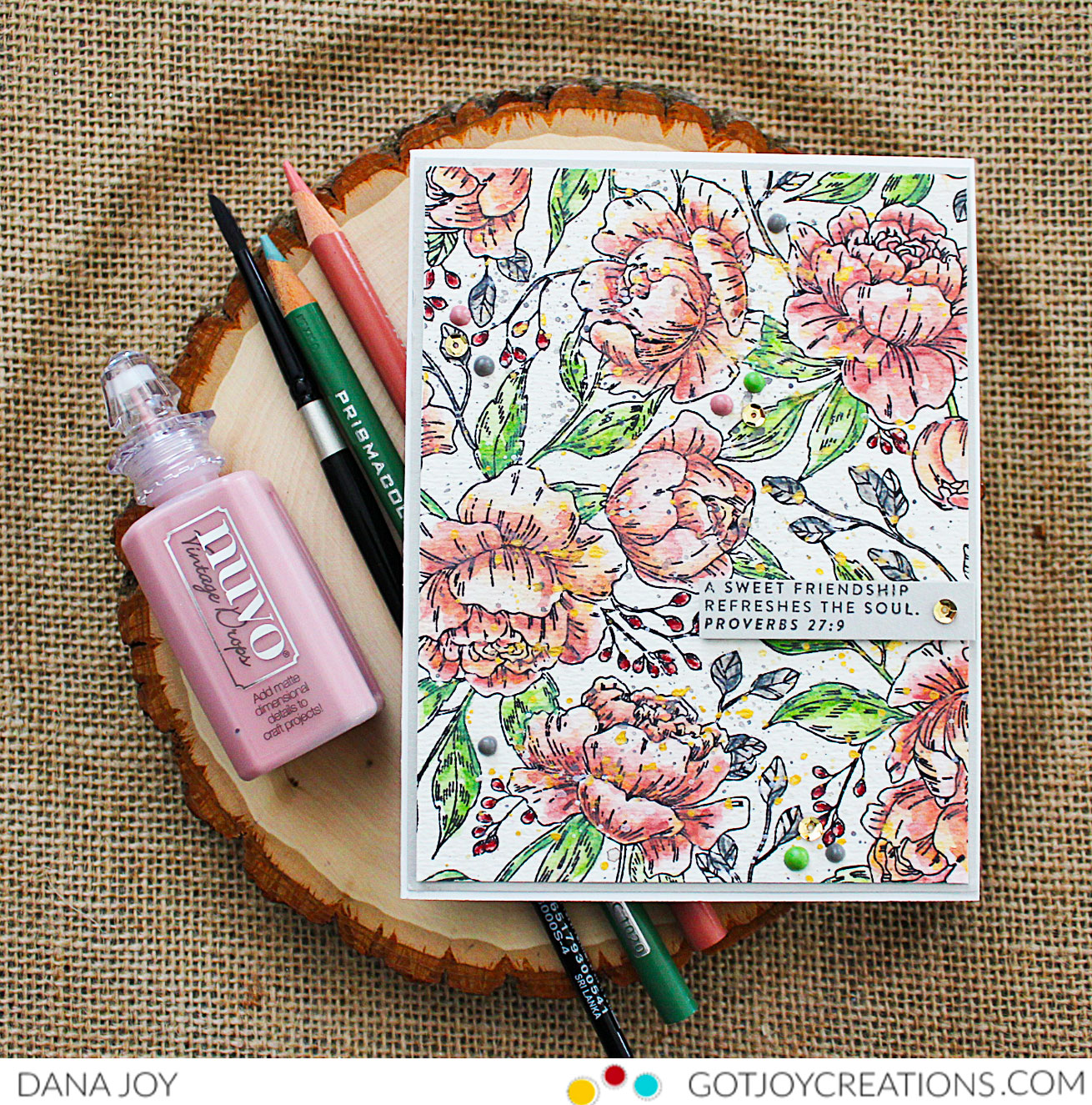 Simon Says Stamp Pretty Peony Background stamp