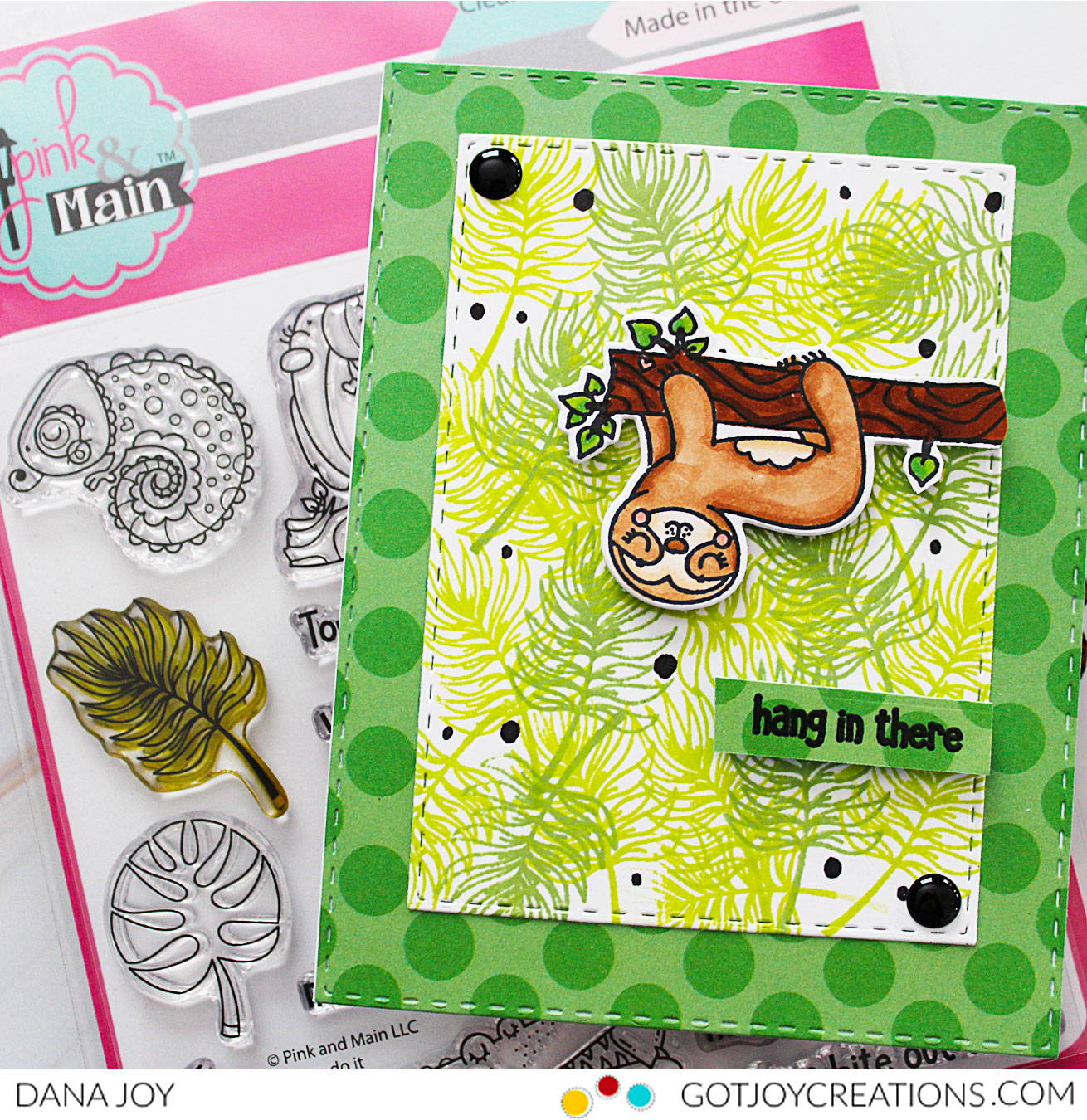 Encouragement Card Hop With Pink and Main Products