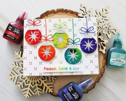 Holiday Ornaments With Brea Reese alcohol inks