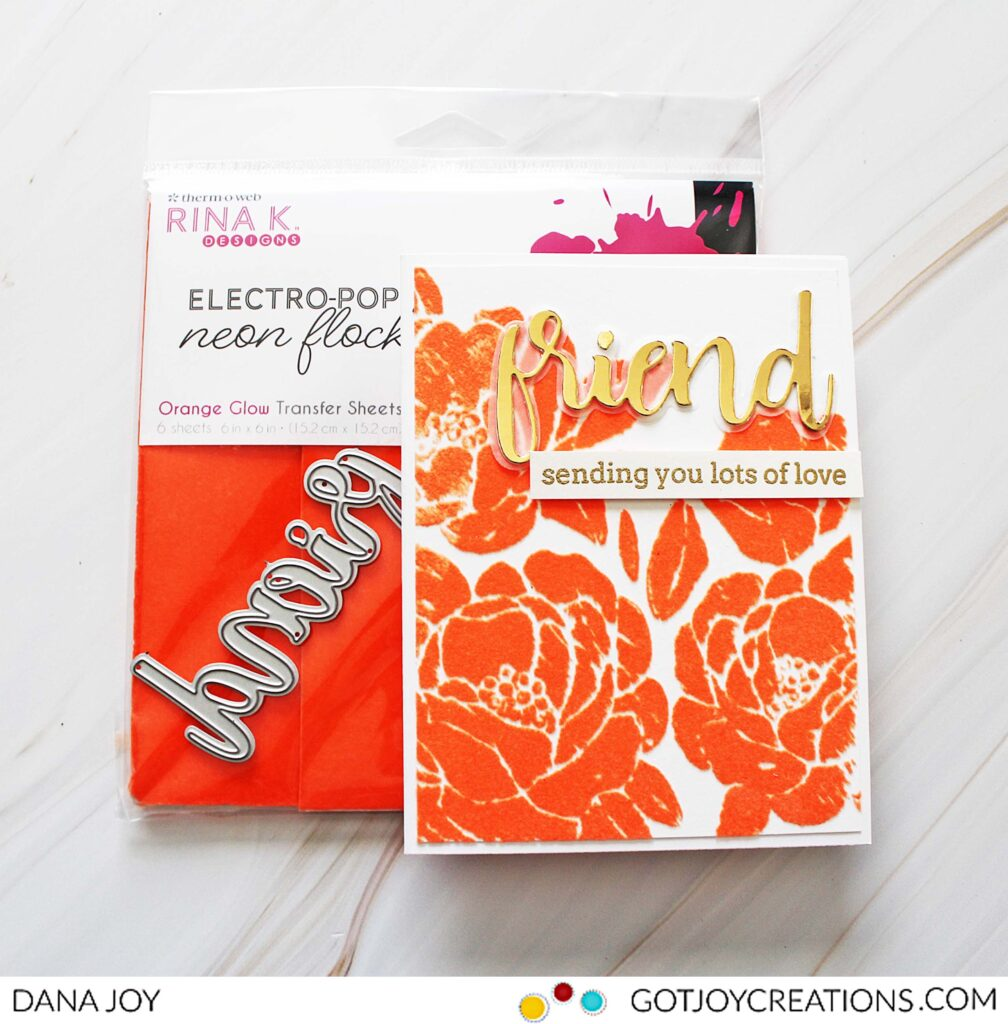 Rubber stamps and Deco Foil Transfer Gel Duo