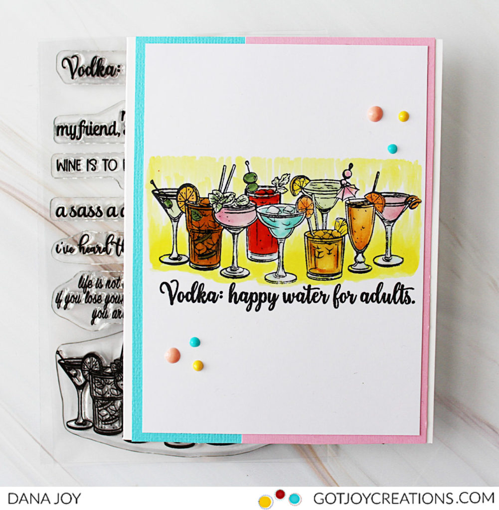 Picket Fence and Simon Says Stamp Happy Water
