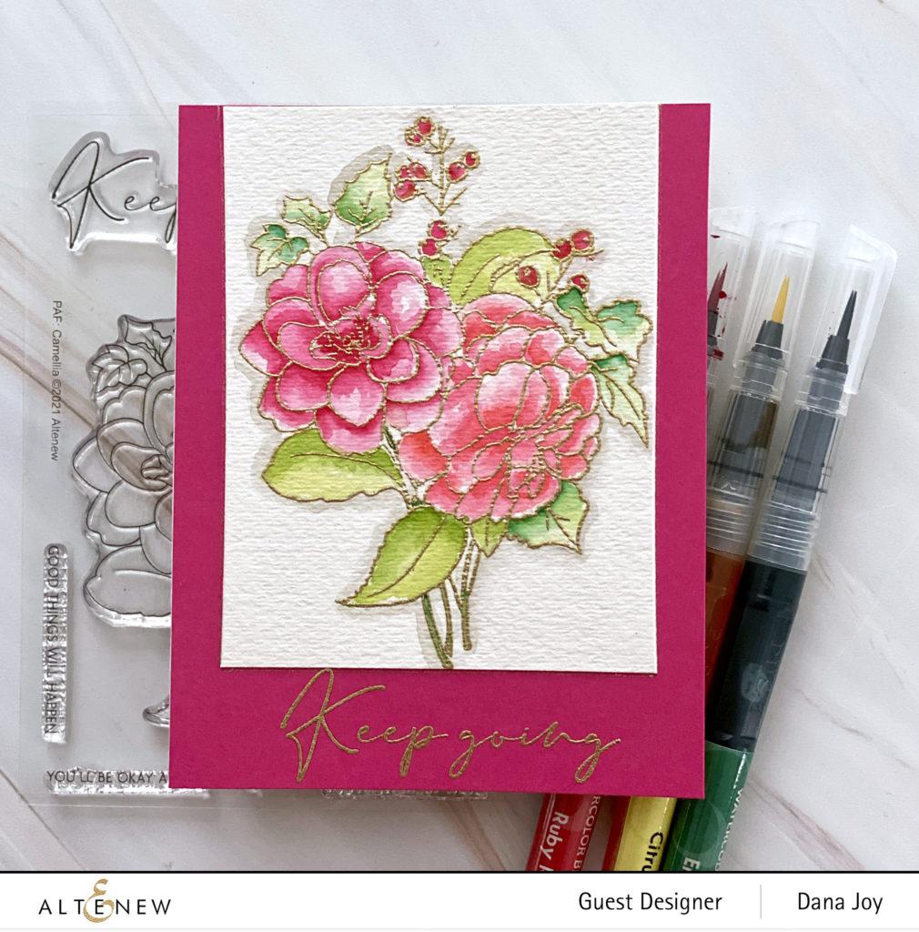 Altenew Camellia Outline