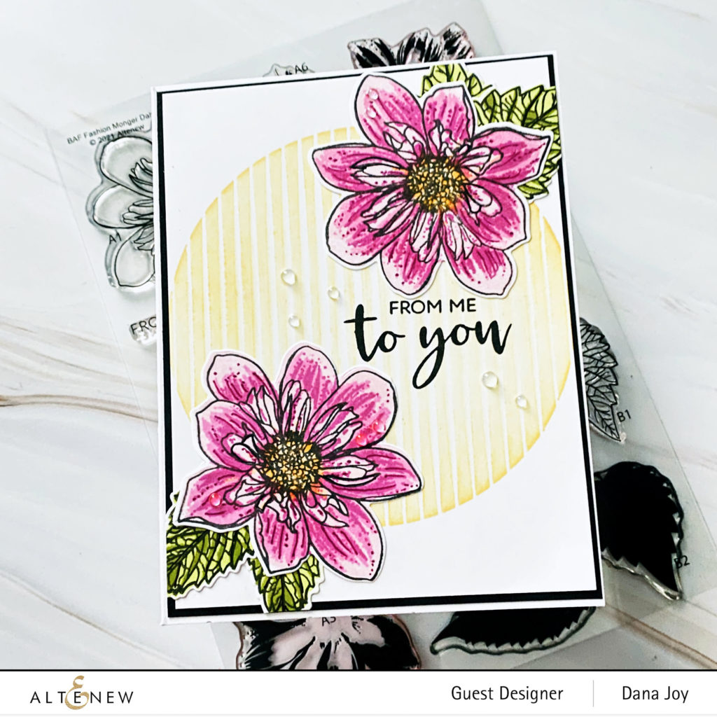 Altenew Build A Flower Fashion Monger Dahlia