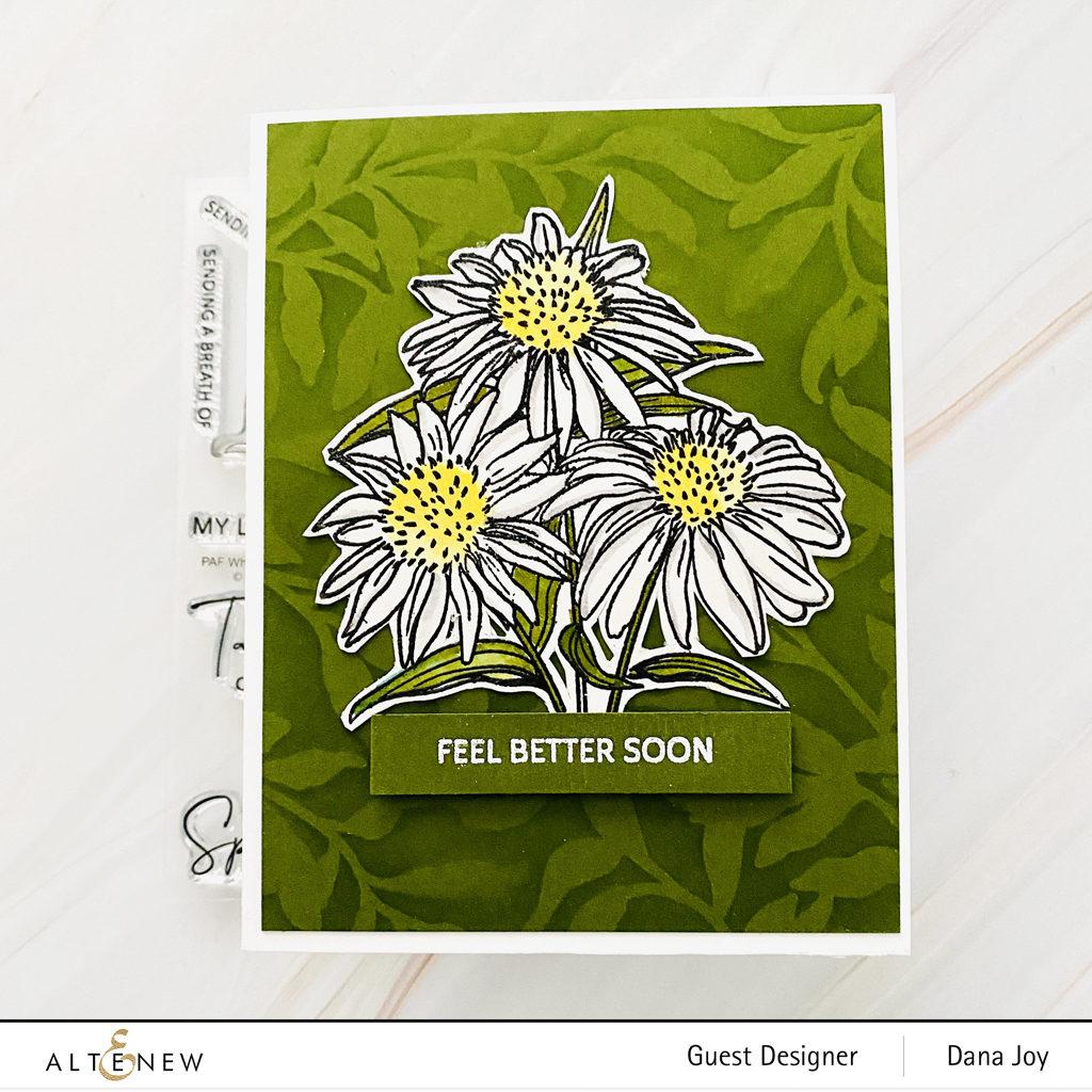 Altenew Paint-A-Flower White Swan Echinacea